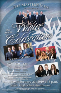 2019 Master's Men Winter Celebration Concert Poster